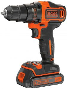 Cordless Electric Drill Driver Variable Speed-BLACK+DECKER 20V MAX