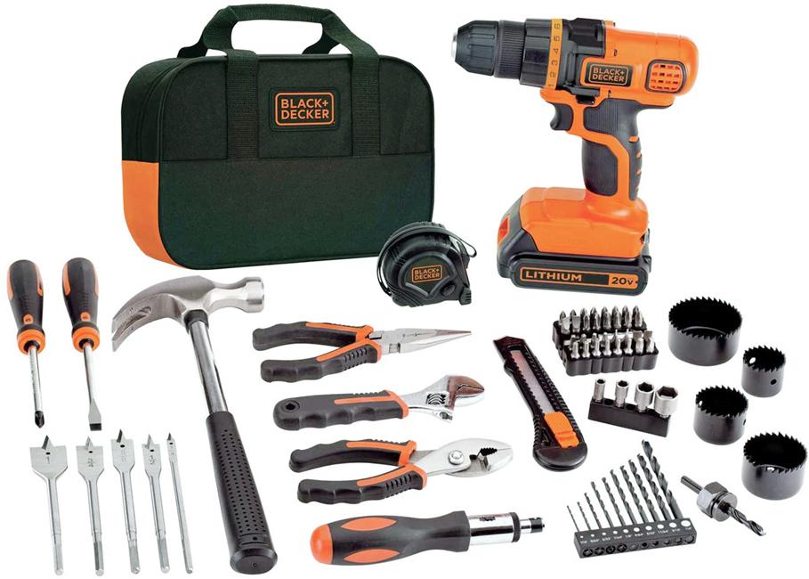 BLACK+DECKER MAX Drill & Home Tool Kit