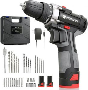 Cordless Portable Drill Driver 31 Pcs Accessories