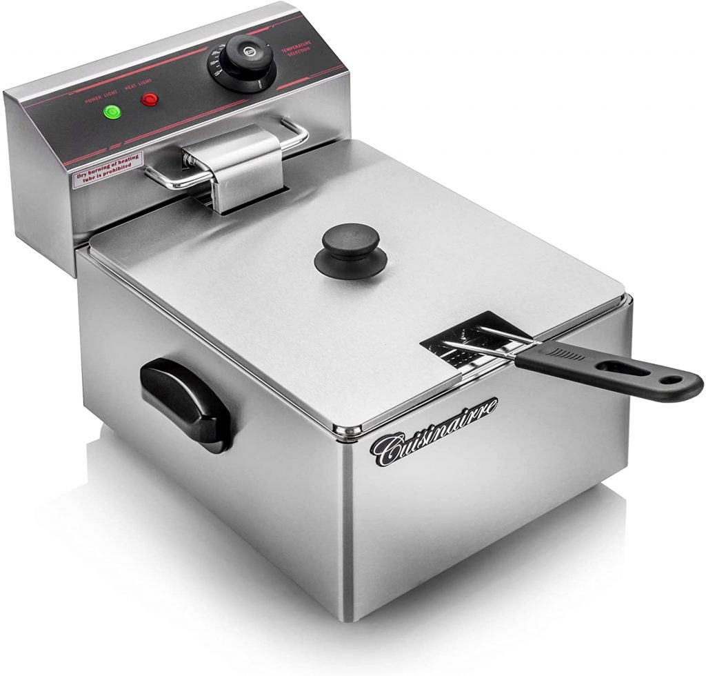 Electric Fryer Cuisinairre Single Stainless Steel