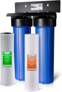 iSpring WGB22B 2-Stage Whole House Water Filtration System with Fine Sediment and Carbon Block Filters