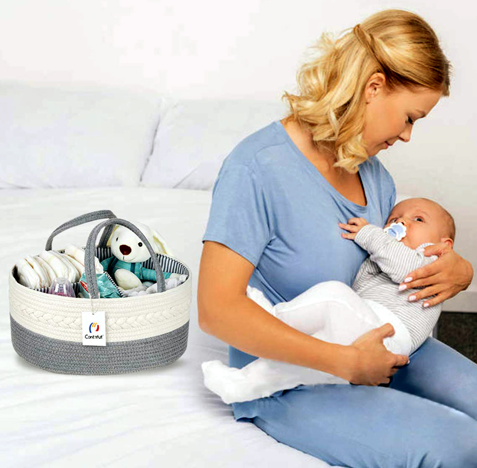Portable baby Diaper Changing Table aand Storage Basket