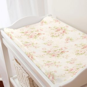 Pink changing pad cover