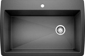 Anthracite 441094 DIAMOND SILGRANIT Super Single Kitchen Sink