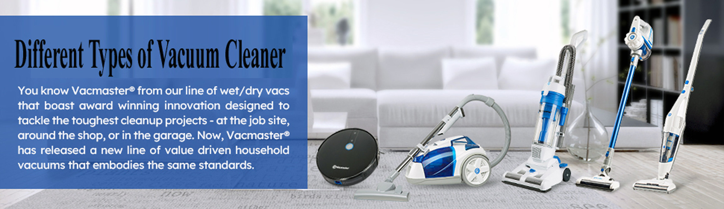 Different Types of Vacuum Cleaner