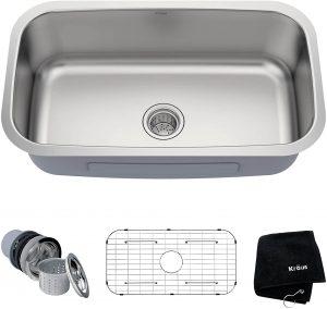 Kraus KBU14 Single Bowl Stainless Steel Kitchen Sink