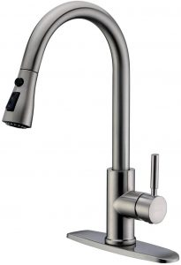 WEWE Single Handle High Arc Pull down Kitchen Faucet