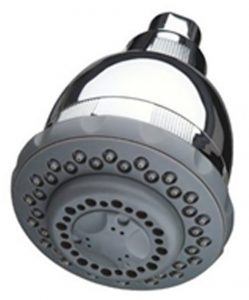 1. Attached filter to a showerhead