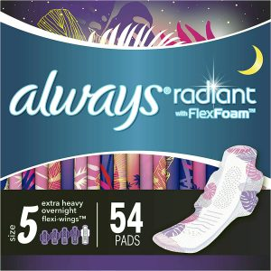 Feminine Pads for Women, Extra Heavy Overnight
