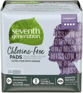 Ultra Thin Pads, Overnight with Wings - Seventh Generation