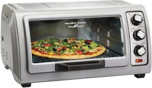 Countertop Toaster Oven with Easy Reach Roll, Bake Pan