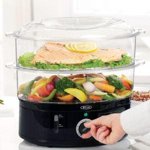 Healthy Food Steamer with 2-Tier Stackable Baskets