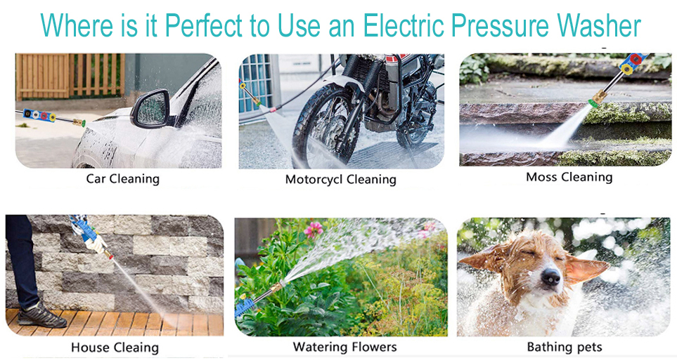 Where is it Perfect to Use an Electric Pressure Washer