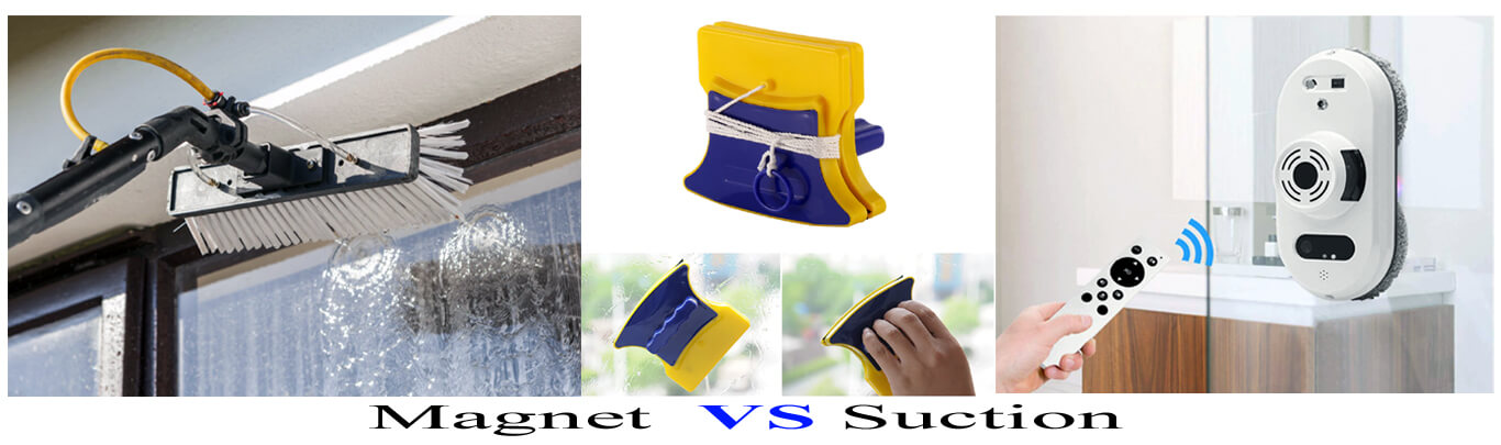 Magnet VS Suction Windows Cleaning Robot