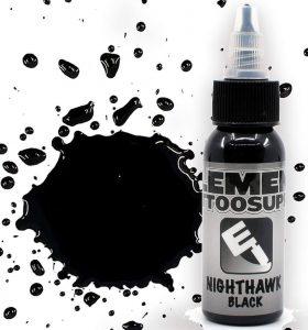 Black Single Bottle Tattoo Ink