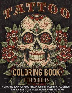 A Modern Tattoo Designs Coloring Book